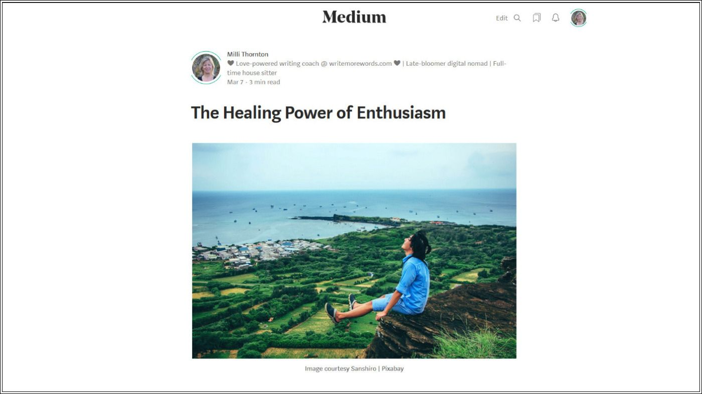 The Healing Power of Enthusiasm