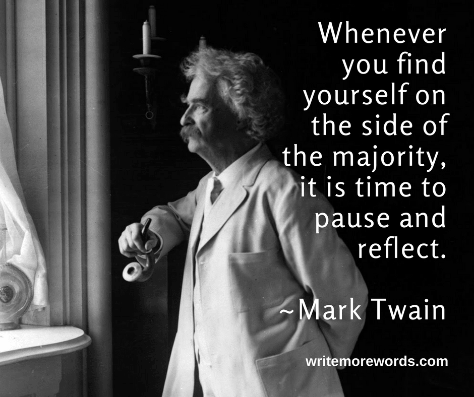 Typical Mark Twain wisdom