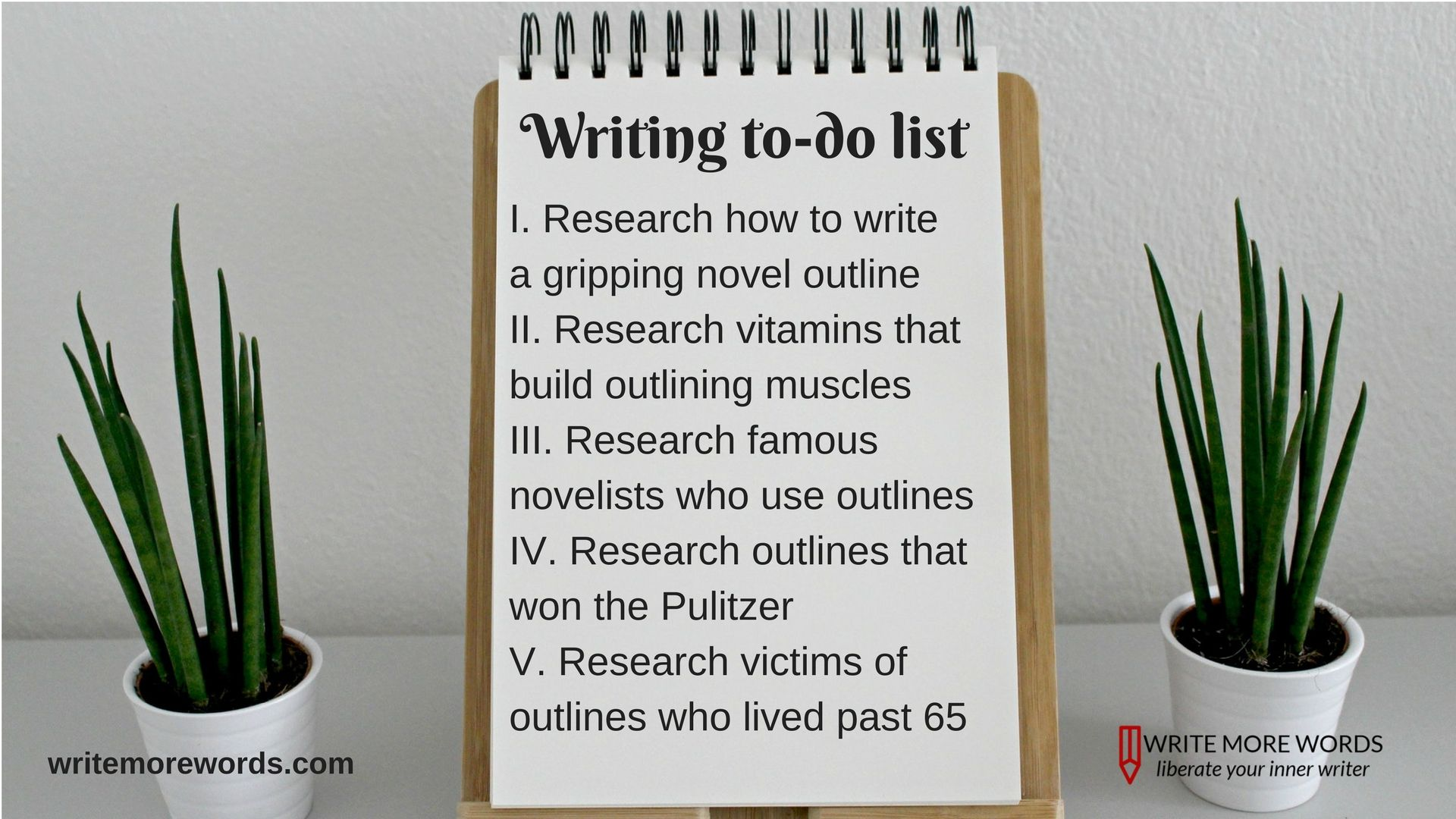 To-do list for writing an outline