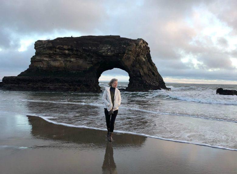 Milli at Natural Bridges Beach